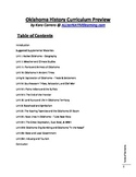 Oklahoma History Curriculum Preview & Table of Contents