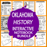 Oklahoma History State Study Interactive Notebook Bundle–19 Lessons (3rd Grade)