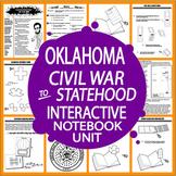 Oklahoma History Interactive Notebook–Civil War to Oklahoma Statehood–3rd Grade