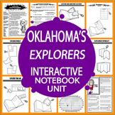 Oklahoma History Interactive Notebook Unit–Oklahoma's Explorers–3rd Grade