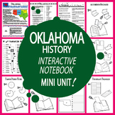 Oklahoma History State Study Interactive Notebook Unit + AUDIO