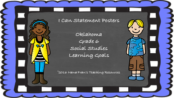 Oklahoma I Can Statement Posters for Grade 6 Social Studies in Chalkboard