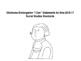 """Oklahoma Kindergarten """"I Can"""" Statements for New  SS Standards"""