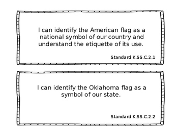 """Oklahoma Kindergarten """"I Can"""" Statetements for Science Standards"""