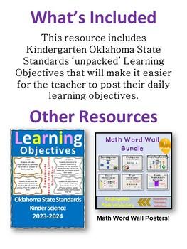 Oklahoma Kindergarten Learning Objective Cards Math