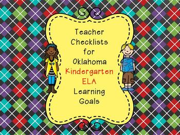 Oklahoma Kindergarten Teacher Checklist for ELA Learning Goals