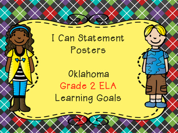 Oklahoma Learning Goals for Grade 2 ELA 1/2 Page Posters