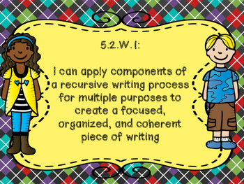 Oklahoma Learning Goals for Grade 5 ELA in I Can Statement Poster Format