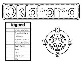 Oklahoma Map Craft Project