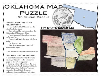 Oklahoma Map Puzzle