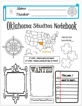 Oklahoma Notebook Cover