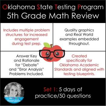 Oklahoma O.S.T.P. 5th Grade Math Study Guide SET 1 (Formerly O.C.C.T.)