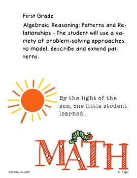 Oklahoma PASS Math Student Data Notebook Caterpillar