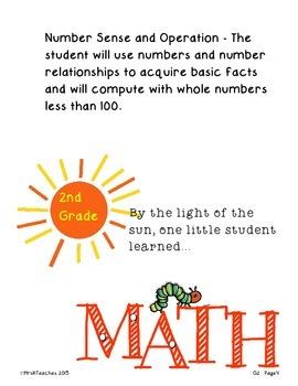 Oklahoma PASS Math Student Data Notebook Caterpillar *2nd Grade*