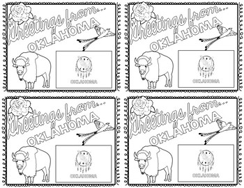 Oklahoma Postcard - Classroom Postcard Exchange