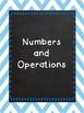 Oklahoma Pre-Algebra I Can Statements (Blue and Chalkboard)