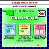 Oklahoma Puzzle BUNDLE - Word Search & Crossword Activities - US States - Google