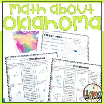 Math about Oklahoma State Symbols through Division Practice