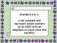 Oklahoma Second Grade Math I Can Statements