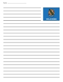 Oklahoma State Flag Lined Paper