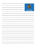 Oklahoma State Flag Primary Lined Paper