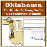 Oklahoma State Latitude and Longitude Coordinates Puzzle - 27 Points to Plot