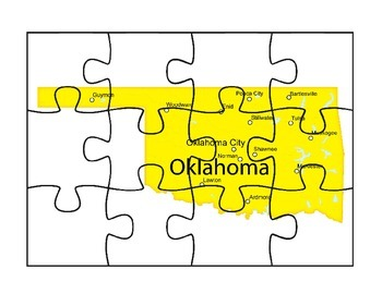 Oklahoma State Map Puzzle Fun
