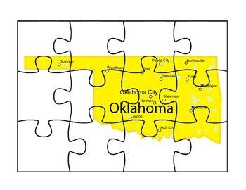 Oklahoma State Map Puzzle Fun
