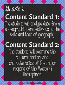 Oklahoma State Social Studies Standards Posters