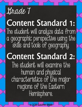 Oklahoma State Social Studies Standards Posters