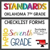 Oklahoma State Standards Checklist 7th Grade