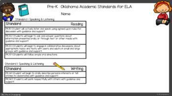 Oklahoma State Standards Checklist Pre K