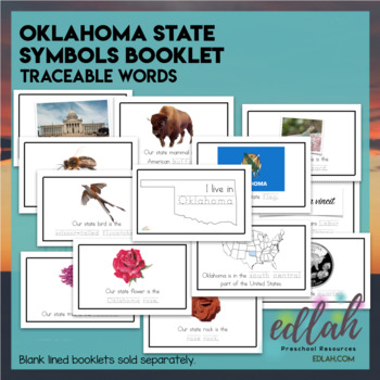 Oklahoma State Symbols Booklet Traceable Words By Melissa Schaper