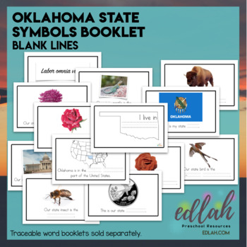 Oklahoma State Symbols Booklet Blank Lines By Melissa Schaper Tpt