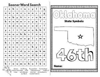 Oklahoma State Symbols Coloring Book