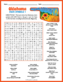 OKLAHOMA State Symbols Word Search Puzzle Worksheet Activity