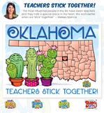 Oklahoma Teachers Stick Together Poster