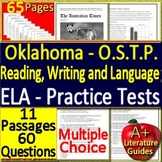 Oklahoma Test Prep 7th Grade O.S.T.P. ELA Practice Tests  - New Format OAS