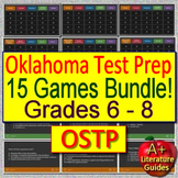 Oklahoma Test Prep (OSTP) for English Language Arts - 15 ELA Games! Grades 6 - 8