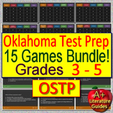Oklahoma Test Prep (OSTP) for English Language Arts - 15 ELA Games! Grades 3 - 5