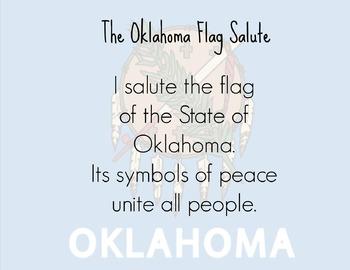Oklahoma flag salute