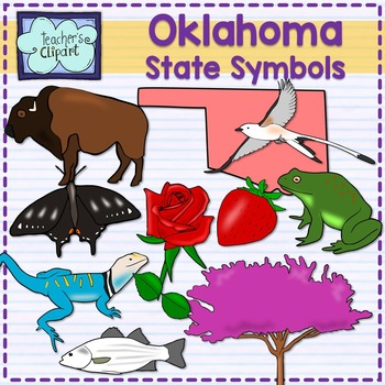 Oklahoma state symbols clipart
