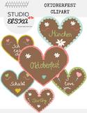 Oktoberfest Clipart - Gingerbread Hearts (German & English)