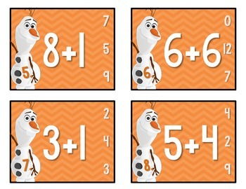 Olaf Addition Task Cards