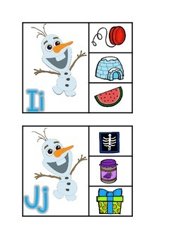 Olaf Beginning Sounds Clip It