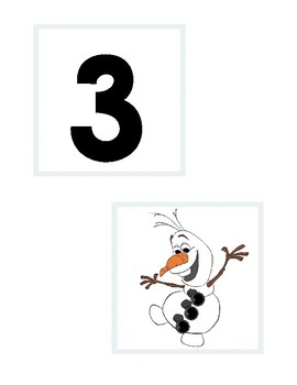 Olaf Button/Number Match 0-6
