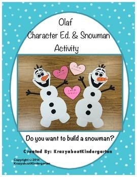 Olaf Character Ed. & Snowman Activity