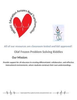Olaf Frozen Problem Solving