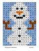 Frozen Inspired - Olaf the Snowman - Multiples of Three Math Mystery Picture