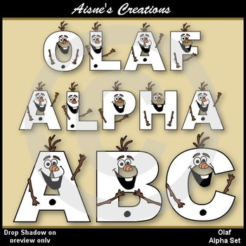 Olaf Snowman Alphabet & Numbers Clip Art Pack
